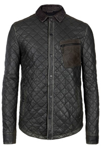 quilted-style-leather-shirt