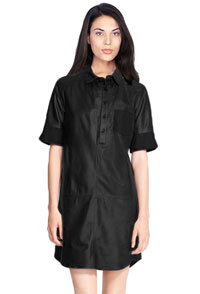 womens-leather-casual-shirt-dress