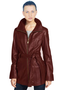 womens-cropped-self-tie-belted-lambskin-leather-trench-coat