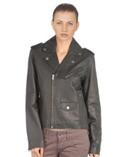 Bike Star Womens Genuine Cowhide Biker Jacket