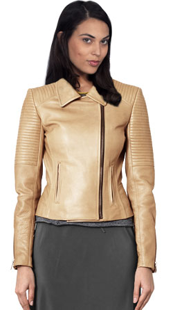 Enigmatic Leather Moto Jacket