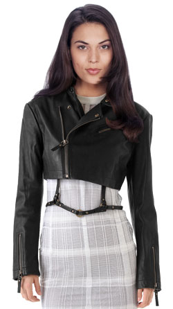 Single seam biker leather jacket