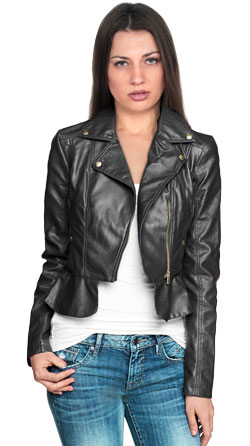 Flirty Leather Biker Jacket