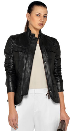 Urbane Leather Biker Jacket