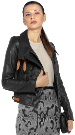 Plush Leather Biker Jacket