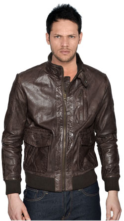 Sturdy leather biker jacket for rough and tough men