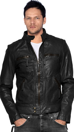 Classic and Suave Leather Biker Jacket for Men