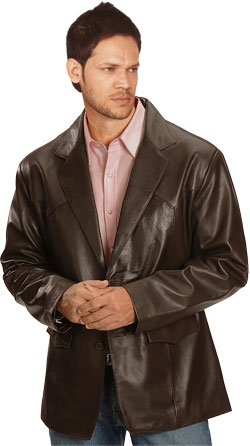 Classic and slick leather blazer for men