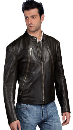 Cool and Stylish Mens Leather Biker Jacket