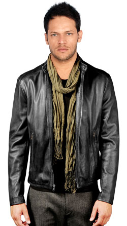 Casual Leather Biker Jacket for universal purpose