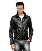 Adjustable Sleeve Leather Biker Jacket