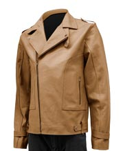 Long Notch Collared Mens Biker Jacket