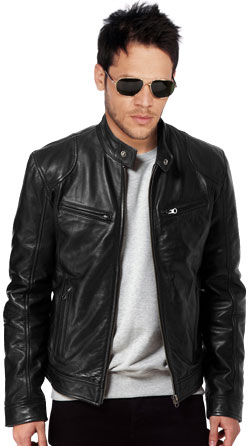 Regular Fit Mens Biker Jacket