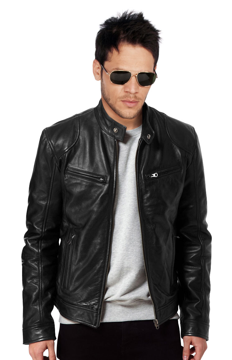 Buy regular fit mens leather jacket online
