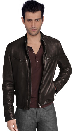 Rugged and Moto Inspired Mens Leather Jacket
