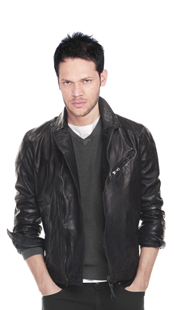 Designer and elegant biker leather jacket
