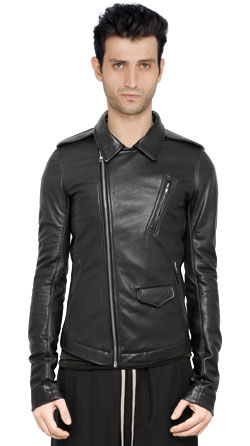 Canvas Lined Men Leather Jacket
