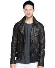 mens-snap-down-collar-leather-biker-jacket-with-classic-trim