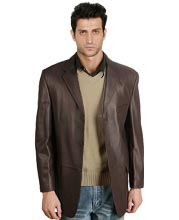 Classic Lambskin Leather Blazer for Men