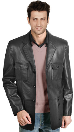 Urbane Leather Blazer for Men