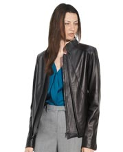 svelte-stand-collar-womens-leather-blazers