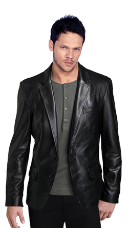 Ductile and Cozy Leather Blazer for men
