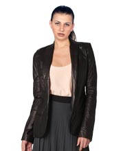 shawl-collar-exquisite-womens-leather-blazer-7010