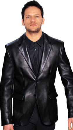 New Clásico Style Leather Blazer for Men