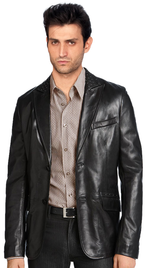 Collection Mens Leather Blazer Pictures - Reikian