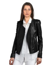 Spread Collared Full hand Leather Blazer