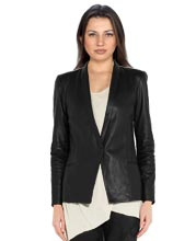 Business Meet Pattern Leather Blazer