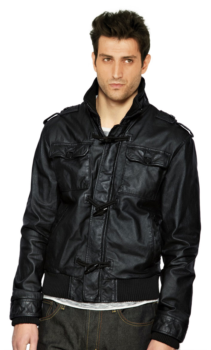 Buy virile mens leather bomber jacket online