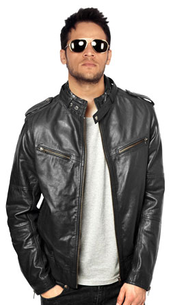 Classy Bomber Jacket for Men with Stand Collar