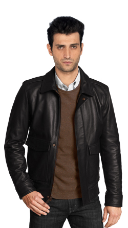 Bomber Jacket with Concealed Snap Placket