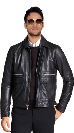 Sleek and Stylish Leather Bomber Jacket for Men