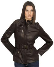 Edgy Trapunto Stitch Womens Leather Bomber Jacket