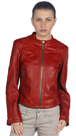 Zealously Stylish Womens Leather Bomber Jacket Featuring Snap button