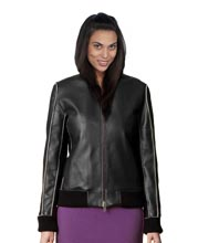 Seamed Classic Leather Bomber Jacket