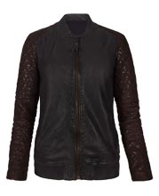 True Fit Classic Leather Bomber jacket