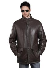 Contemporary Leather Coat for Men