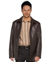 Shirt-Style Leather Coat for Men