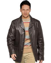 Loose- Fit & Comfy Leather Coat for Men