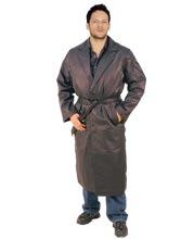 Single Breasted Attractive Mens Leather Coat