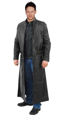 Matrix Style Mens Leather Coat