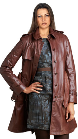 Sophisticated and creative convertible leather coat for women