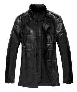 Macho and Raunchy Leather Mens Coat