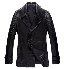Romanov Themed Mens Leather Trench Coat