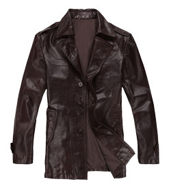 Casanova Styled Mens Leather Coat