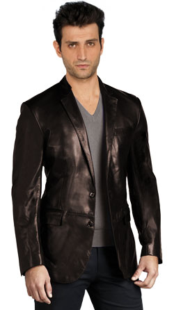 Slender and Sporty Leather Mens Coats