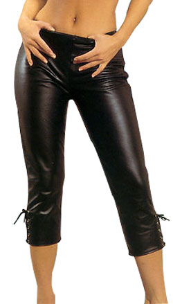 Opulent Leather Capri Pant for Women